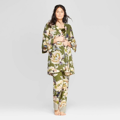 020bcdedcb12 Women s Floral Print Simply Cool Robe - Stars Above™ Green   Target