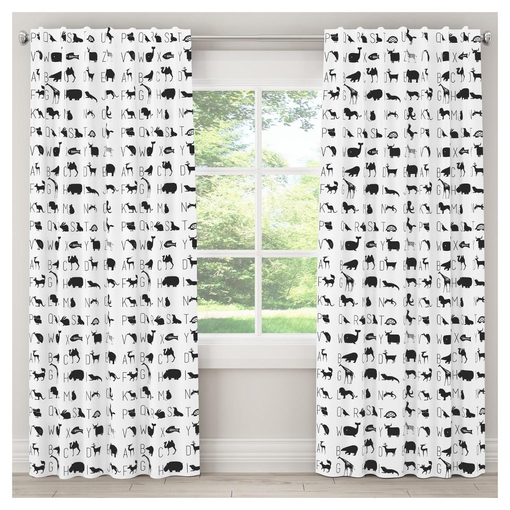 Alphabet Blackout Curtain Panel (63