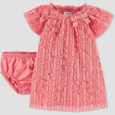 Baby Girls' Pinklet Lace Dress - Just One You® made by carter's Pink 3M