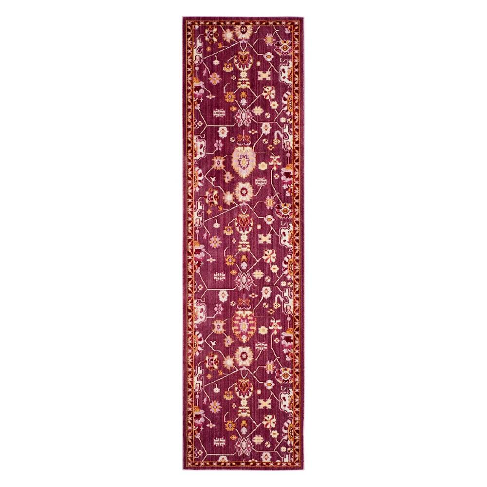 22X8 Floral Loomed Runner Fuchsia - Safavieh Price