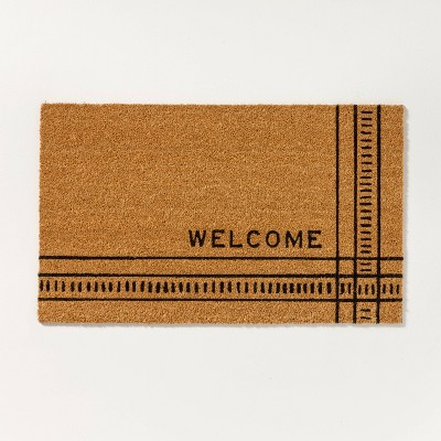 Outdoor Dash & Stripe Welcome Coir Doormat - Hearth & Hand™ with Magnolia