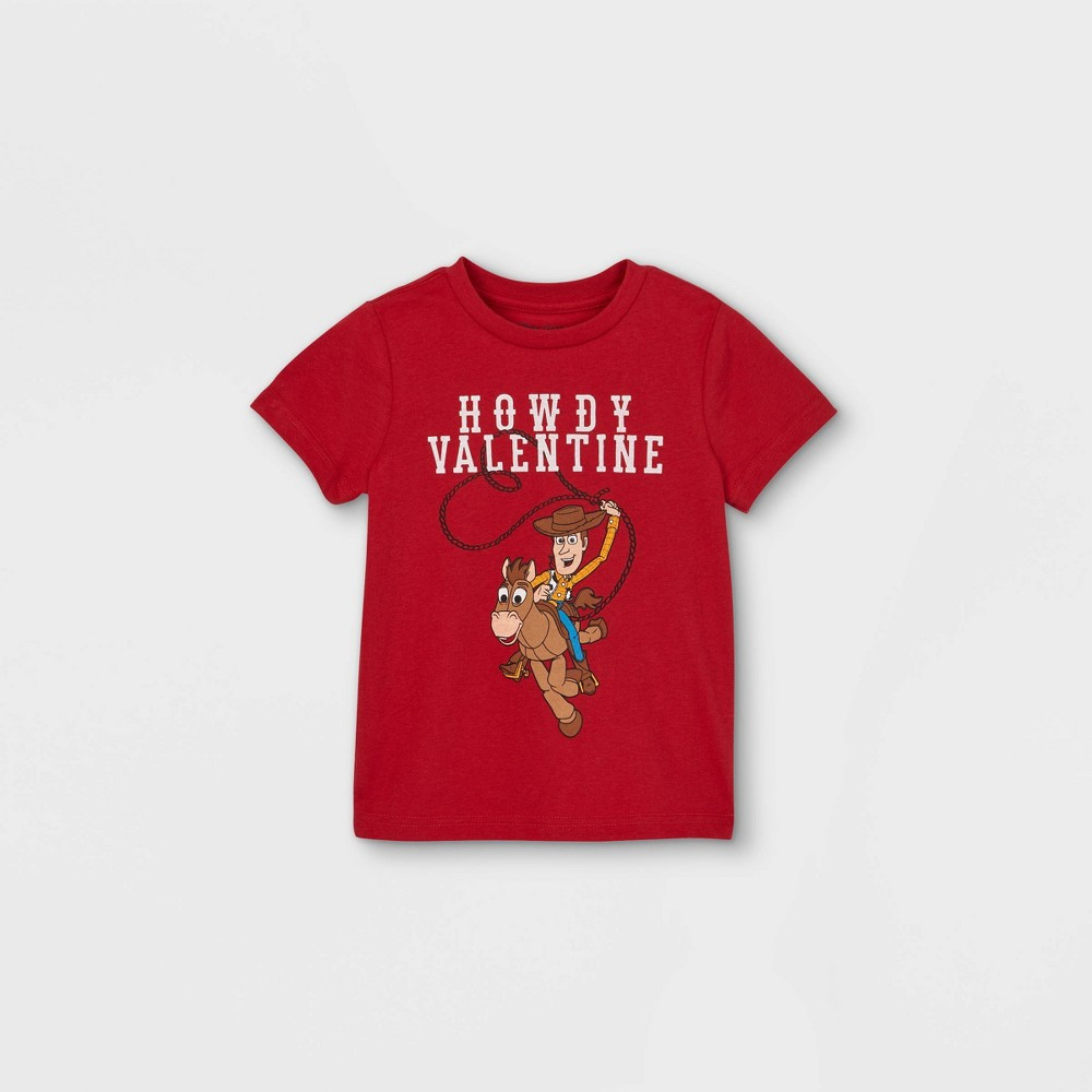 Toddler Boys 39 Toy Story 39 Howdy Valentine 39 Valentine 39 S Day Short Sleeve Graphic T Shirt Red 18m