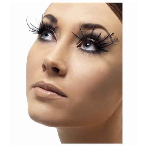 Adult Smiffy's Feather Plume Costume Eyelashes Black - image 1 of 1