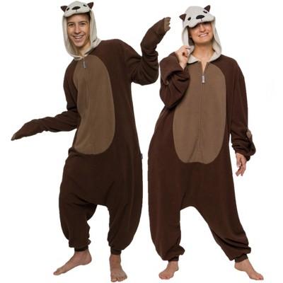 FUNZIEZ! Otter Adult Unisex  Novelty Union Suit - Brown Otter