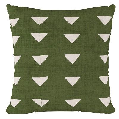 Green Triangle Print Throw Pillow - Cloth & Co