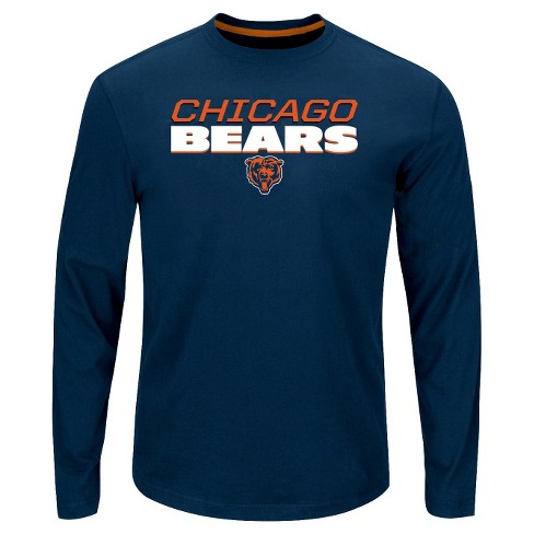af576ab7 Chicago Bears Men's Big & Tall Long Sleeve Performance T-Shirt - 6XL