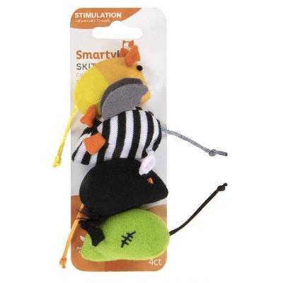 SmartyKat Halloween Skitter Mice Cat Toy - 4pk