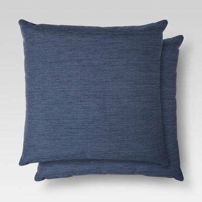 2pk Blue Throw Pillow 18 x18  - Threshold™