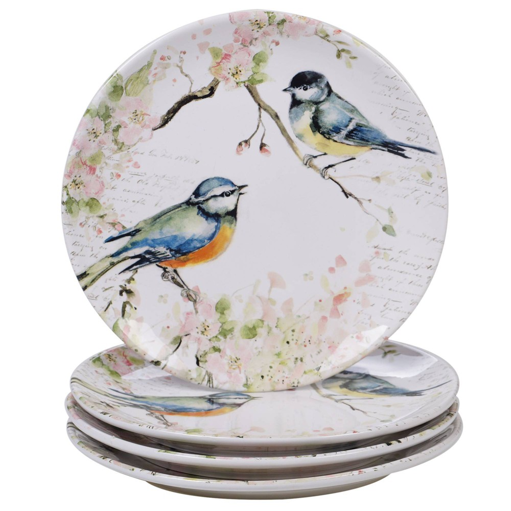 "Image of ""10.8"""" 4pk Earthenware Spring Meadows Dinner Plates - Certified International"""
