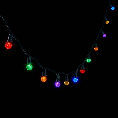 200ct LED Faceted Sphere String Lights with Green Wire - Wondershop™