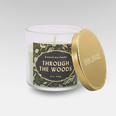 4.1oz Lidded Glass Jar Candle Through the Woods - Opalhouse™