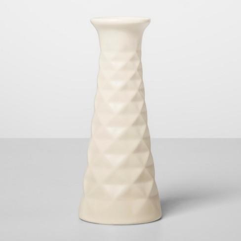 """5"""" x 2.2"""" Decorative Stoneware Matte Vase White - Opalhouse™ - image 1 of 1"""