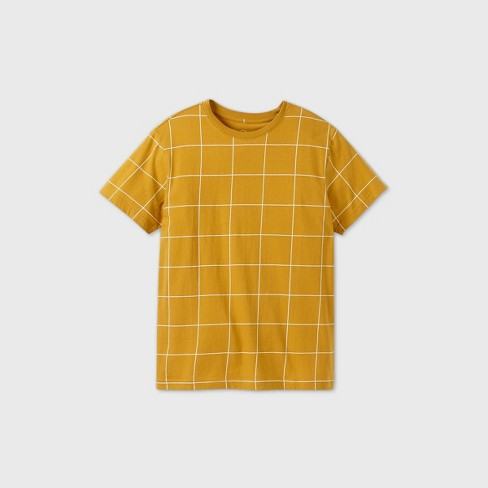 Men's Plaid Relaxed Fit Short Sleeve Rush Window Pane T-Shirt - Original Use™ Gold - image 1 of 2
