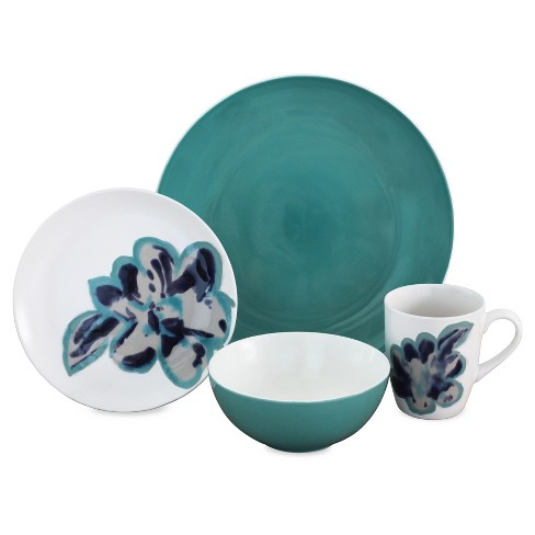 Baum Bros.® Bloom 16pc Dinnerware Set Jade - image 1 of 1
