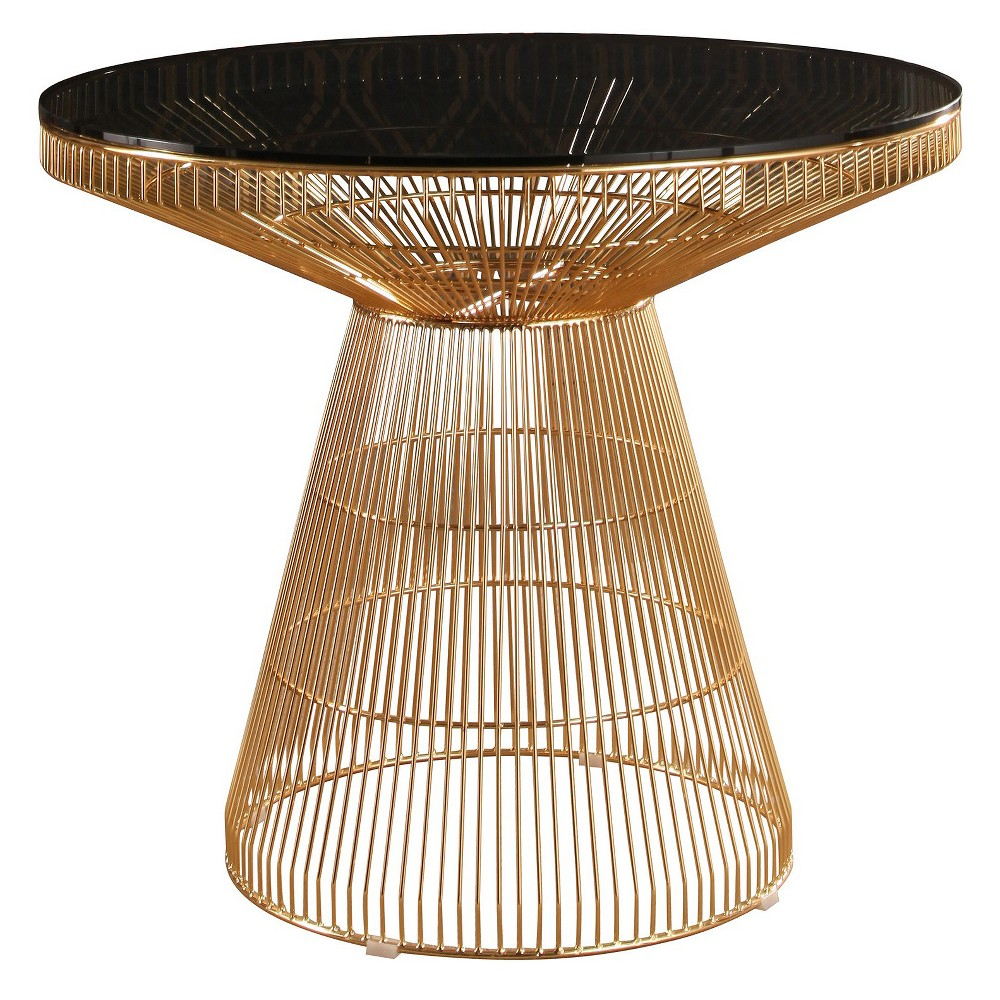 Chunng Iron Round Dining Table Gold - Abbyson Living