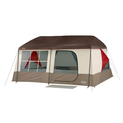 Wenzel 36423W 14 X 14 Foot Kodiak Camping 9 Person Family Pop Up Cabin Tent, Tan - image 1 of 3