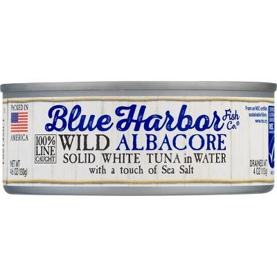 Blue Harbor Solid Albacore Tuna in Water with Sea Salt - 4.6oz