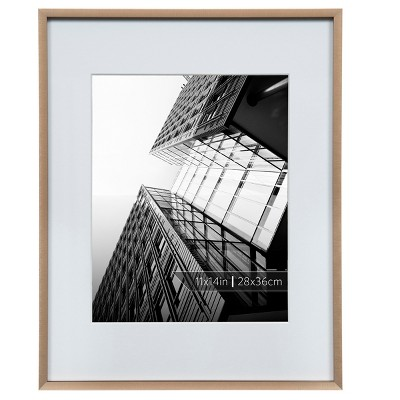 Burnes of Boston 8  x 10  Aluminum Gallery in Brushed Finish Matted Single Image Frame Bronze