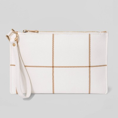 Plaid Large Pouch Wristlet - A New Day™