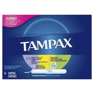 Tampax Cardboard Applicator Tampons - Light/Regular/Super Absorbency - Triple Pack - Unscented - 54ct : Target