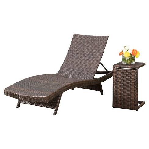 Salem 4 Piece Wicker Lounges with C-shaped Wicker Tables - Brown - Christopher Knight Home - image 1 of 4