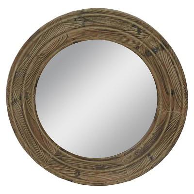 23.5  Wood Outdoor Mirror - Brown - Threshold™