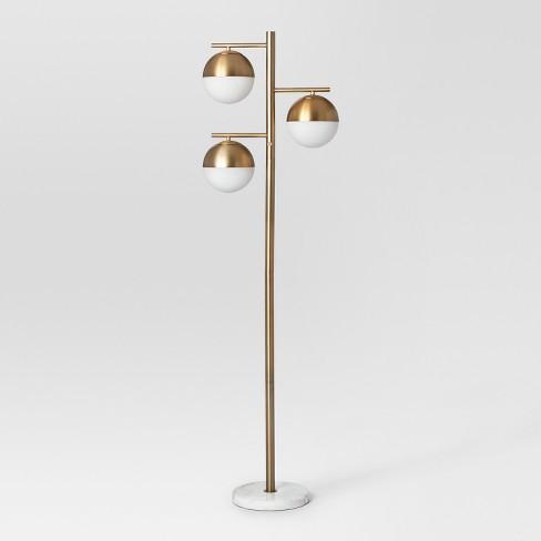 Geneva Multiple Glass Globe Floor Lamp Brass - Project 62™ - image 1 of 3