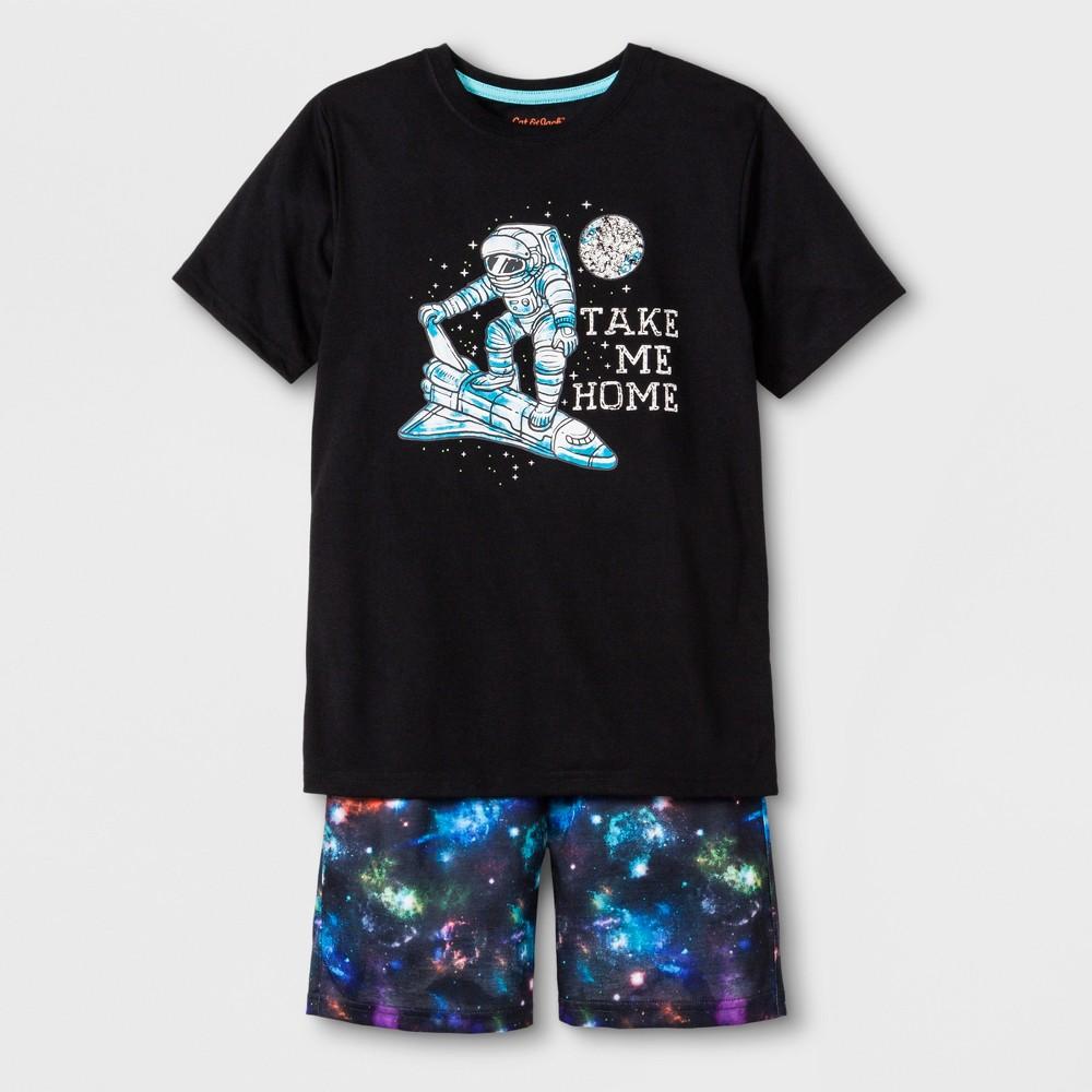 Boys' 2pc Shuttle Graphic Short Sleeve Pajama Set With Shorts - Cat & Jack Black XL