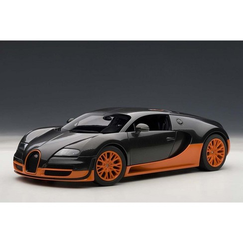 bugatti veyron super sport edition carbon fiber black with orange 1