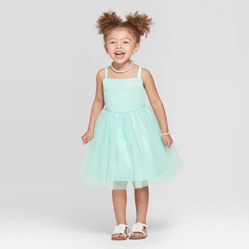 8212b6b9027 Toddler Girls  Dress - Cat   Jack™ Aqua 12M   Target