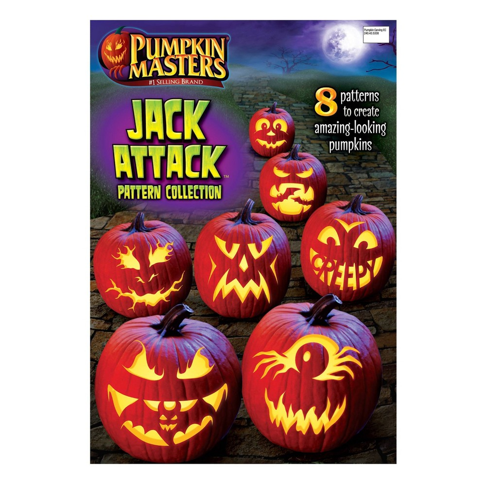 Image of Halloween Pumpkin Masters Jack Attack Pattern Book Halloween Pumpkin Decorating Kit
