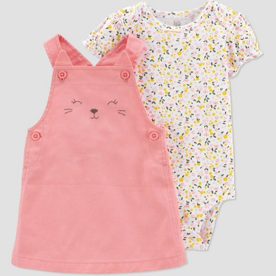 Baby Girls' Bear Top & Bottom Set - Just One You® made by carter's Pink Newborn