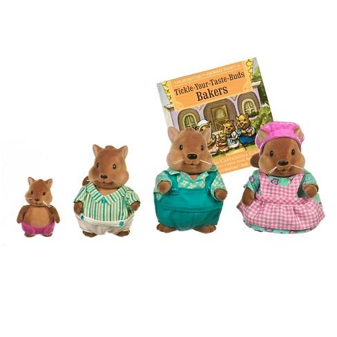 Li'l Woodzeez Miniature Animal Figurine Set - Bushytail Squirrel Family - image 1 of 3