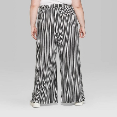 a868a2938f Women s Plus Size Striped High-Rise Wide Leg Pants - Wild Fable™ Black White.  Shop all Wild Fable