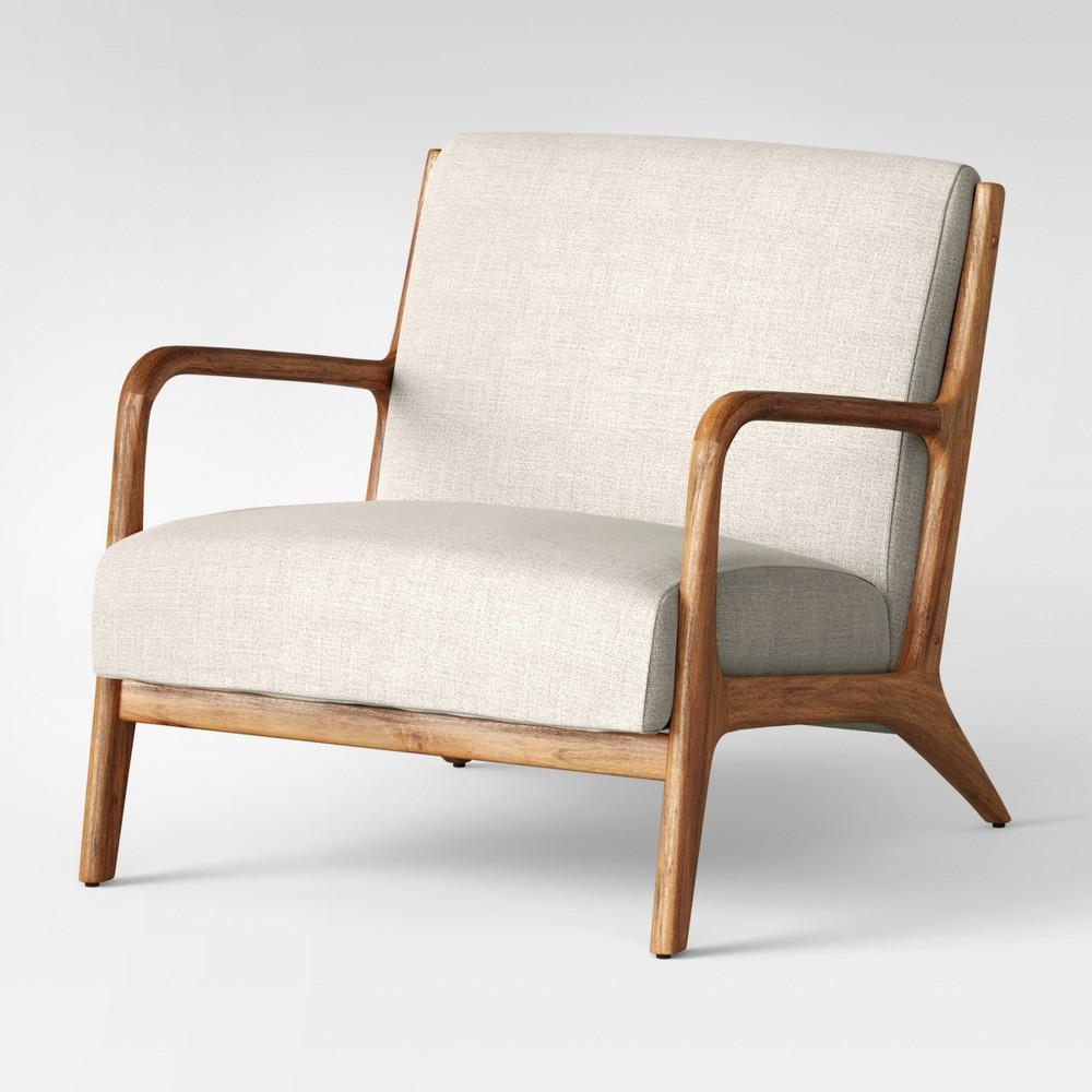 Esters Wood Arm Chair Husk - Project 62, Millbrook Husk