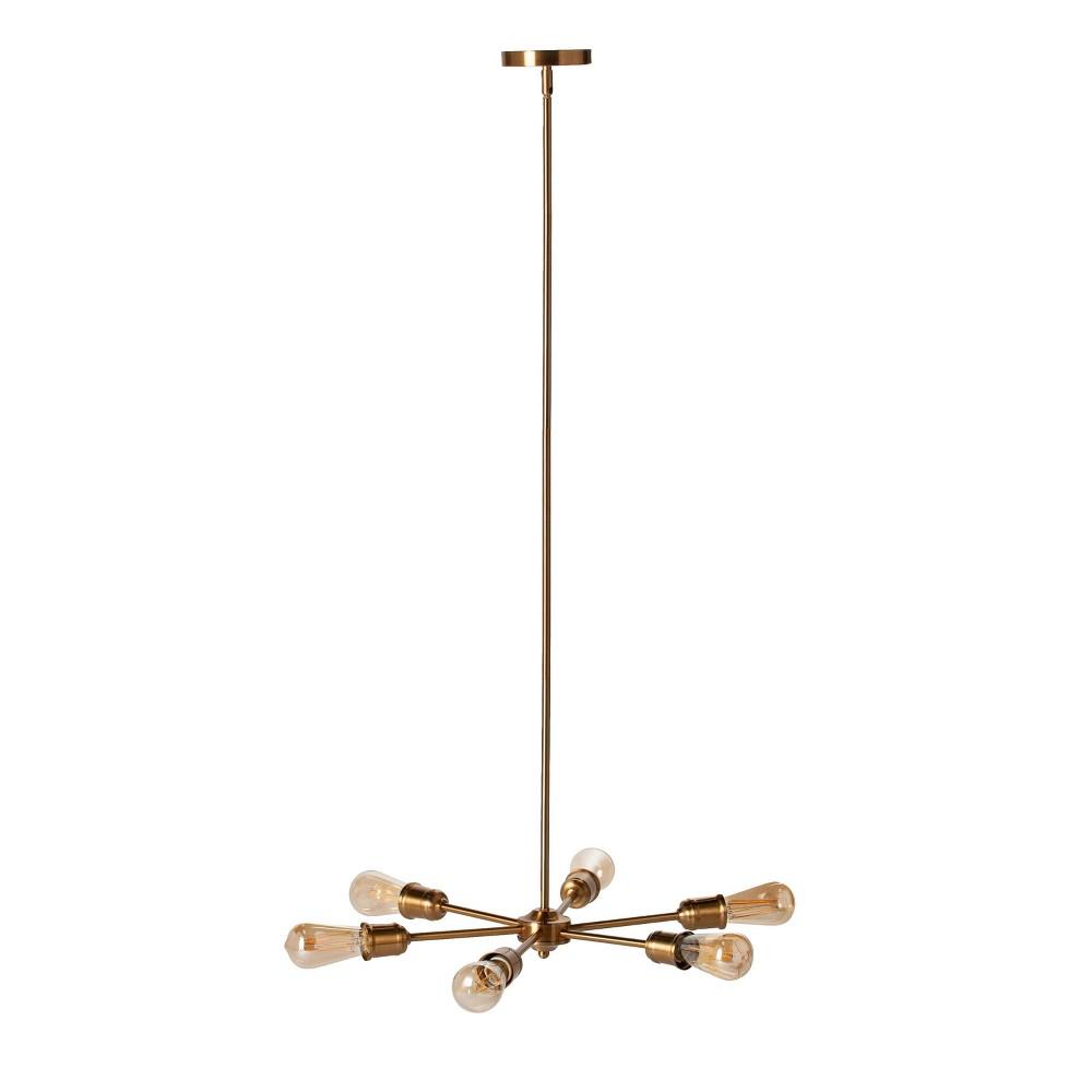 Yelwin Light Spoke Pendant Lamp Brass (Lamp Only) - Aiden Lane