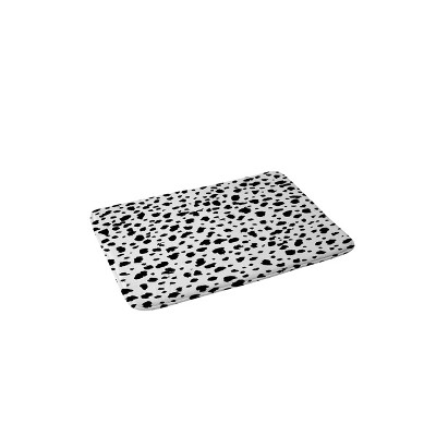 Rebecca Allen Dalmatian Memory Foam Bath Mat Black/White - Deny Designs