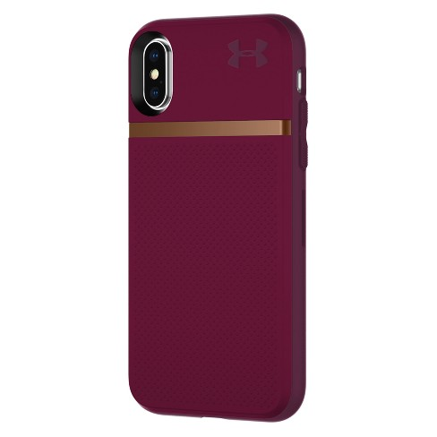new arrival a7da8 a5702 Under Armour iPhone X Case UA Stash - Maroon/Currant/Rose Gold