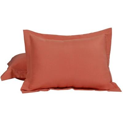 2 Pcs King 1800 Series Soft Brushed Microfiber Pillowcase Orange Red - PiccoCasa
