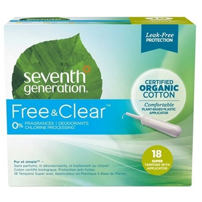 Seven best organic tampons use instead plastic