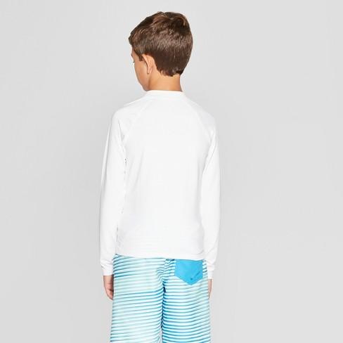 e20738f9de9db Boys' Long Sleeve Rash Guard - Cat & Jack™ White : Target