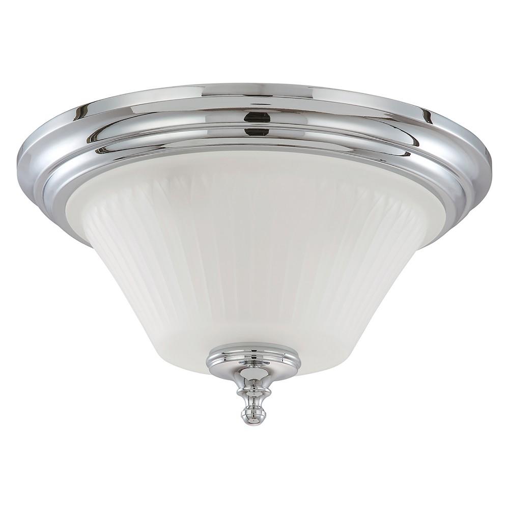 Aurora Lighting 3 Light Polished Flush Mount Ceiling Lights Chrome (Grey)