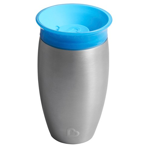 Munchkin Miracle 10oz Stainless Steel 360 Sippy Cup - image 1 of 3