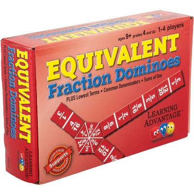 Learning Advantage Equivalent Fraction Dominoes - Math Game for Kids