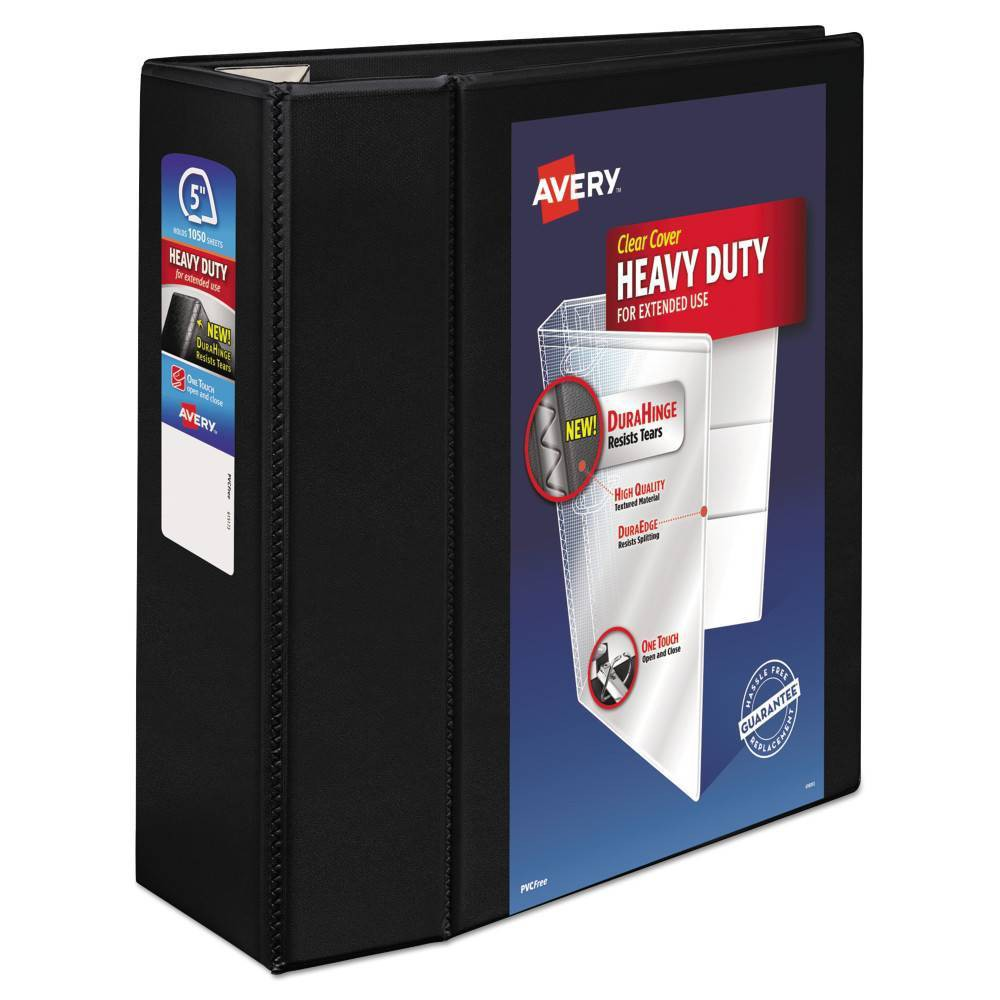 "Image of ""Avery 5"""" Heavy Duty View Ring Binder Black"""