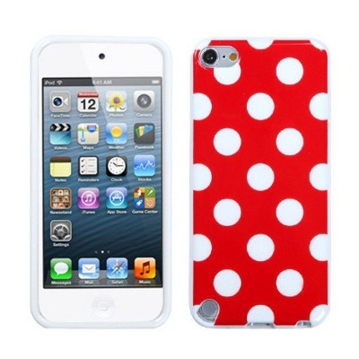 MYBAT For Apple iPod Touch 5th Gen/6th Gen Red White Polka Dots TPU Case