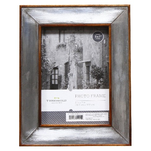 "8""x10"" Picture Frame Aged Metal - Threshold™ - image 1 of 2"