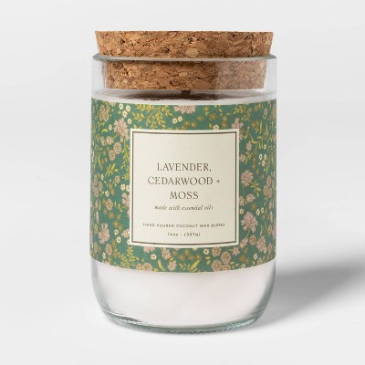 14oz Glass Lavender Cedarwood and Moss Candle - Threshold™