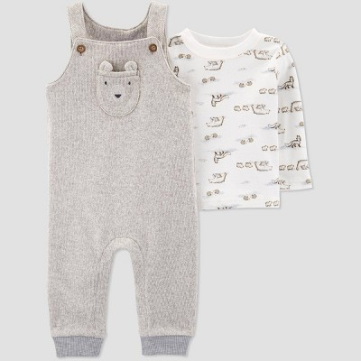 Baby Boys' 2pc Top & Bottom Sets - Just One You® made by carter's Gray/White Newborn