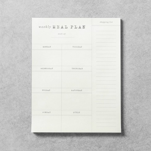 Meal Planner Notepad - Hearth & Hand™ with Magnolia - image 1 of 2